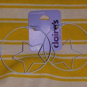 Purple Hoop Earrings